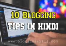 10 Most Important Blogging Tips in Hindi to Improve Skills