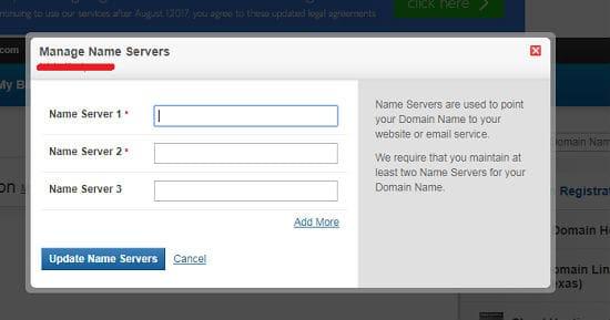 update name server