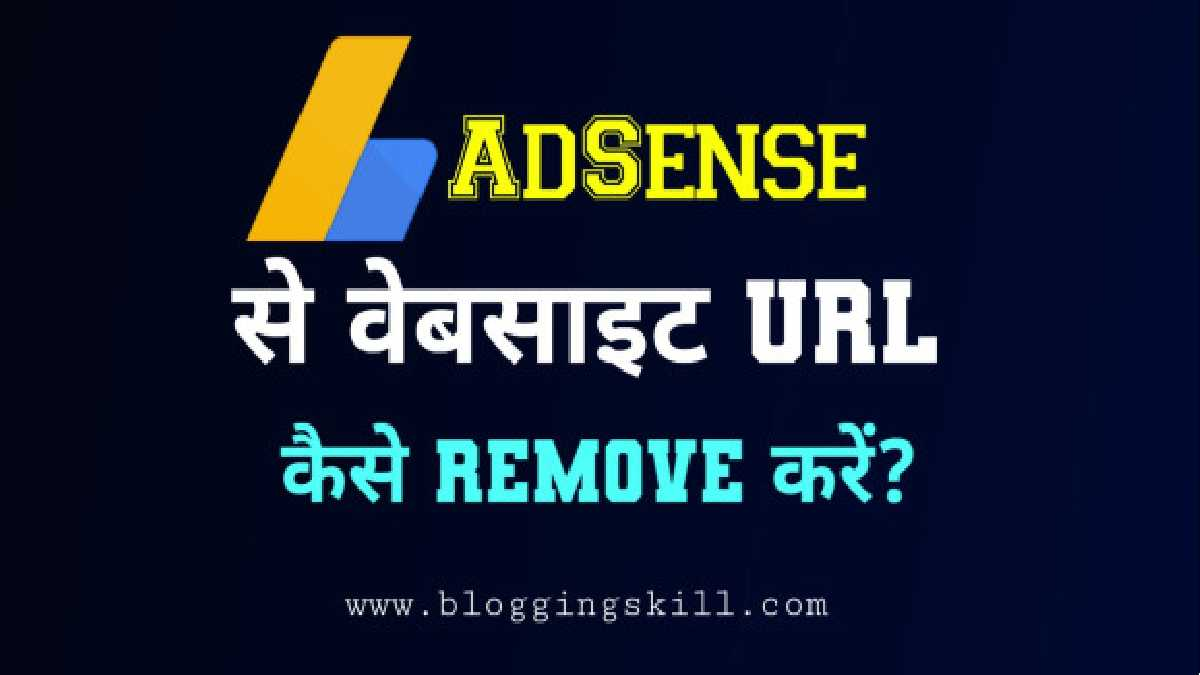 Google AdSense Account Se Website URL Remove Kaise Kare