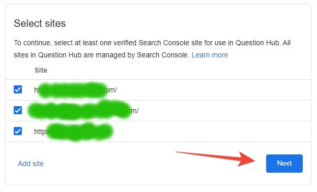 Select Domain For Google Question Hub