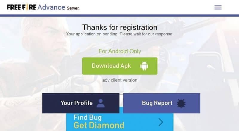 official Advance Server website