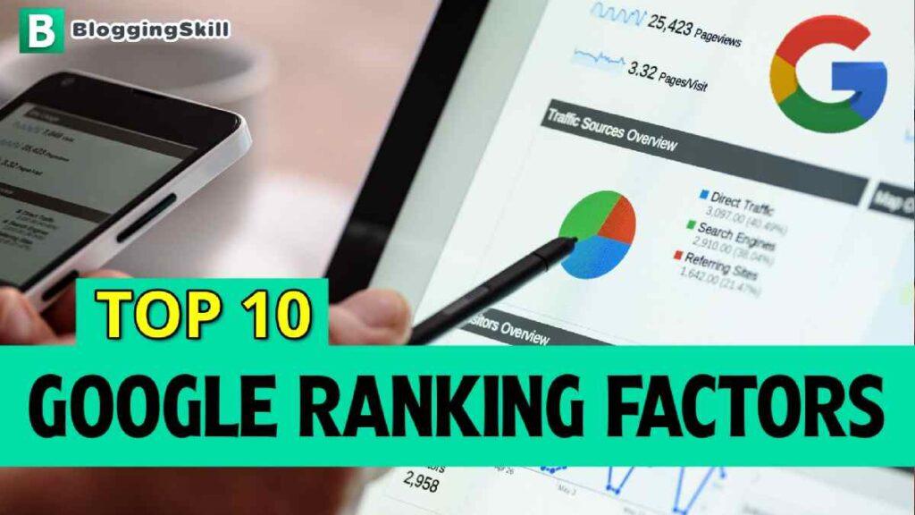 Top 15 Google Ranking Factors in Hindi
