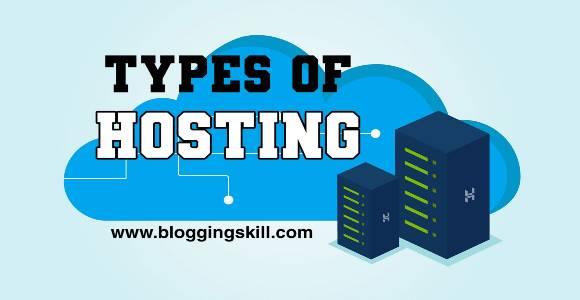 Web Hosting कितने प्रकार के होते है (Types of Hosting)